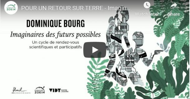 Dominique Bourg et Sophie Swaton - Conférence - Pour un retour sur terre