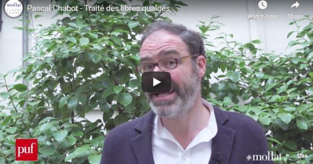 Entretien avec Pascal Chabot – Traité des libres qualités