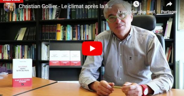 """Christian Gollier présente """"Le climat après la fin du mois"""""""