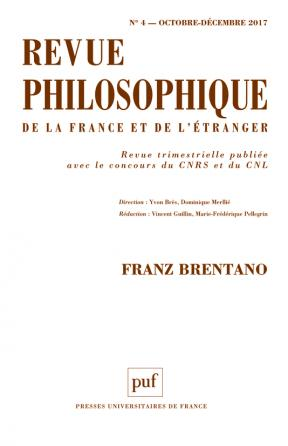 Revue philosophique 2017, t. 142 (4)
