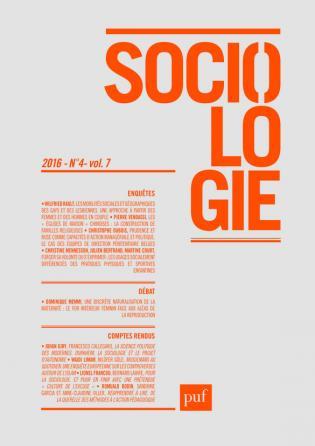 Sociologie 2016, n° 4