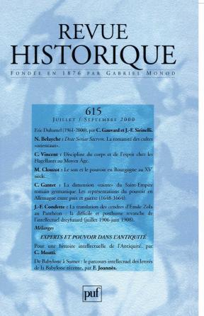 Revue historique 2000, n° 615