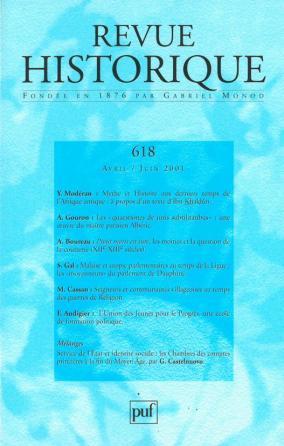 Revue historique 2001, n° 618