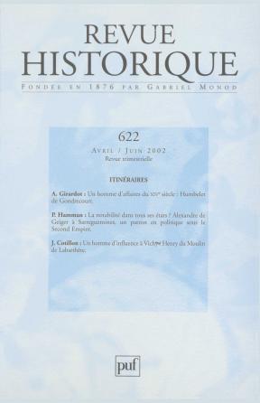 Revue historique 2002, n° 622