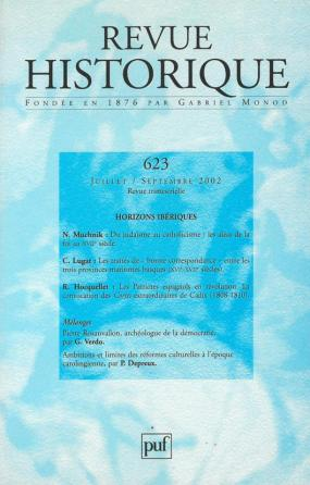 Revue historique 2002, n° 623