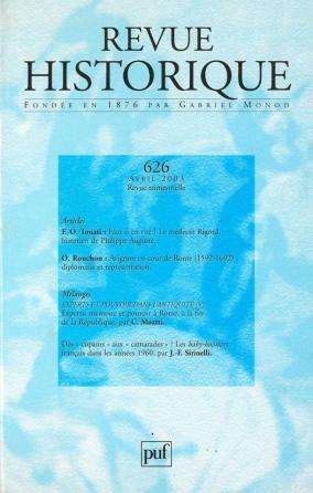 Revue historique 2003, n° 626