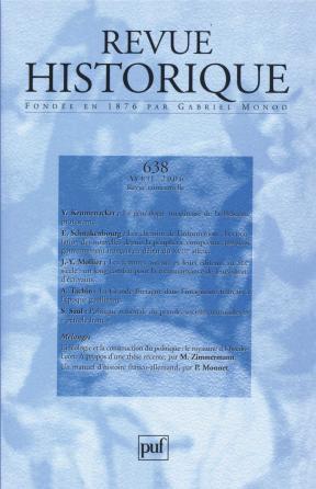 Revue historique 2006, n° 638