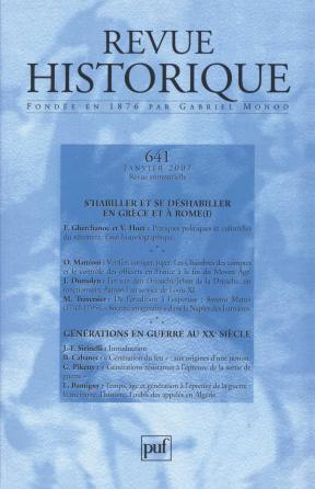 Revue historique 2007, n° 641