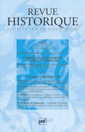 Revue historique 2007, n° 643