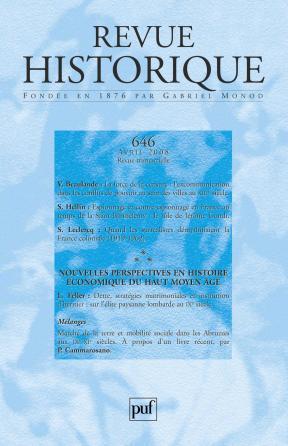 Revue historique 2008, n° 646