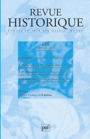 Revue historique 2009, n° 649