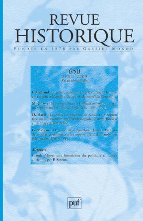 Revue historique 2009, n° 650