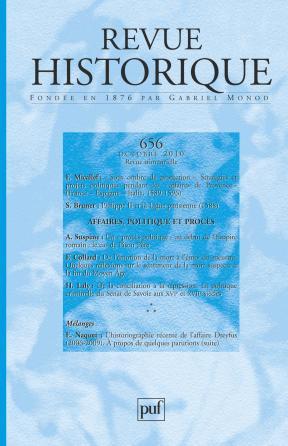 Revue historique 2010, n° 656
