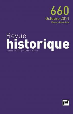 Revue historique 2011, n° 660