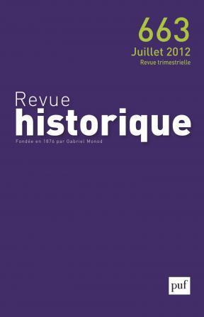 Revue historique 2012, n° 663
