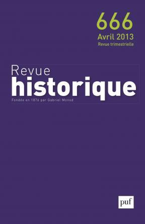 Revue historique 2013, n° 666