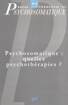 Rev. fr. de psychosomatique 1993, n° 3