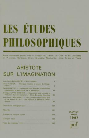 études philosophiques 1997, n° 1