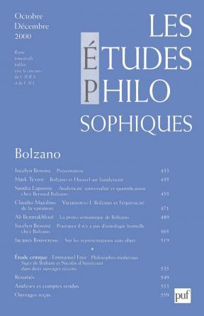 études philosophiques 2000, n° 4