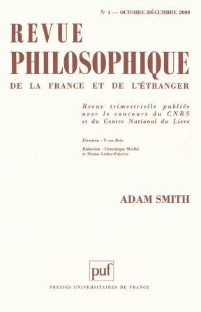 Revue philosophique 2000, t. 125 (4)