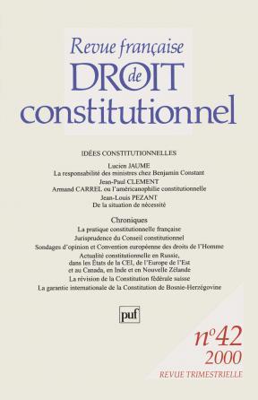 RFDC 2000, n° 42