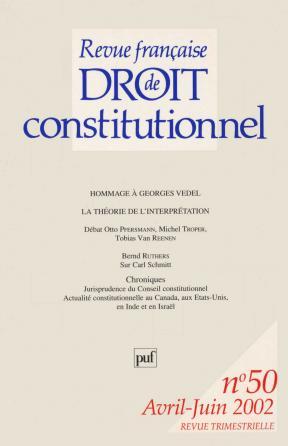 RFDC 2002, n° 50