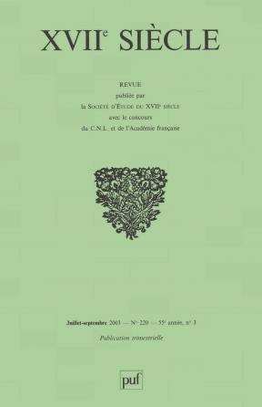 XVIIe siècle 2003, n° 220