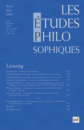 études philosophiques 2003, n° 2
