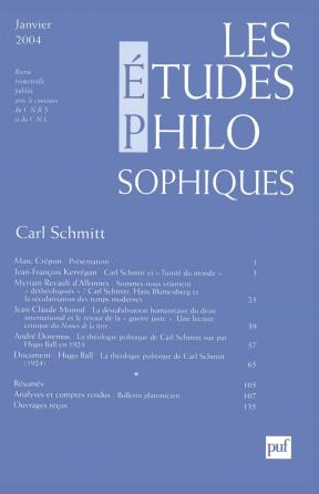 études philosophiques 2004, n° 1