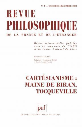 Revue philosophique 2004, t. 129 (4)