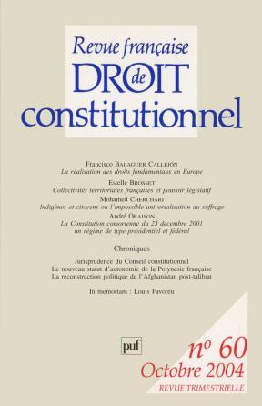 RFDC 2004, n° 60
