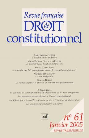 RFDC 2005, n° 61