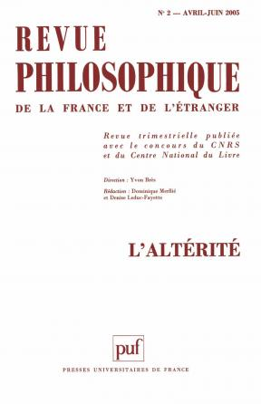 Revue philosophique 2005, t. 130 (2)