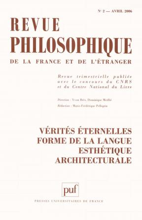 Revue philosophique 2006, t. 131 (2)