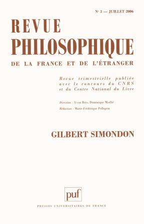 Revue philosophique 2006, t. 131 (3)