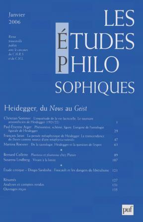 études philosophiques 2006, n° 1