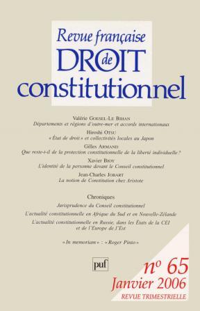 RFDC 2006, n° 65