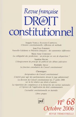RFDC 2006, n° 68