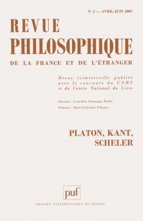 Revue philosophique 2007, t. 132 (2)