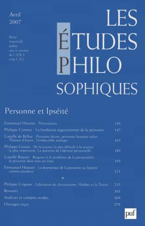 études philosophiques 2007, n° 2
