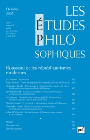 études philosophiques 2007, n° 4