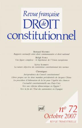 RFDC 2007, n° 72