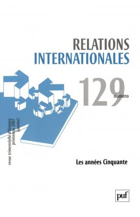 Relations internationales 2007, n° 129