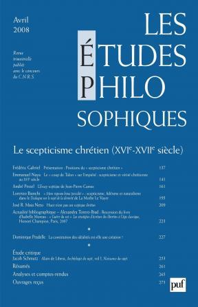 études philosophiques 2008, n° 2
