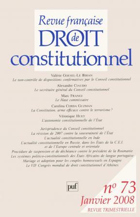 RFDC 2008, n° 73