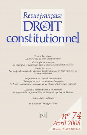 RFDC 2008, n° 74