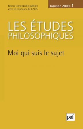 études philosophiques 2009, n° 1
