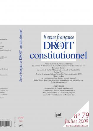 RFDC 2009, n° 79