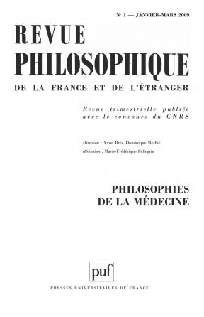 Revue philosophique 2009, t. 134 (1)