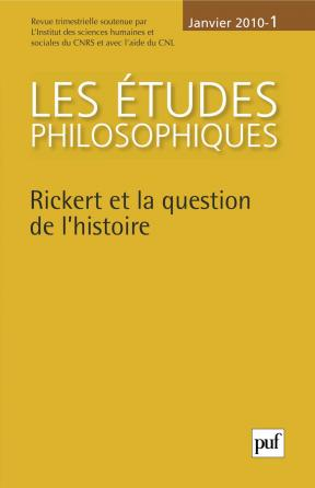 études philosophiques 2010, n° 1